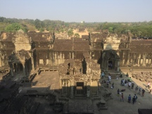 The view from the top of Angkor Wat - well worth the climb.